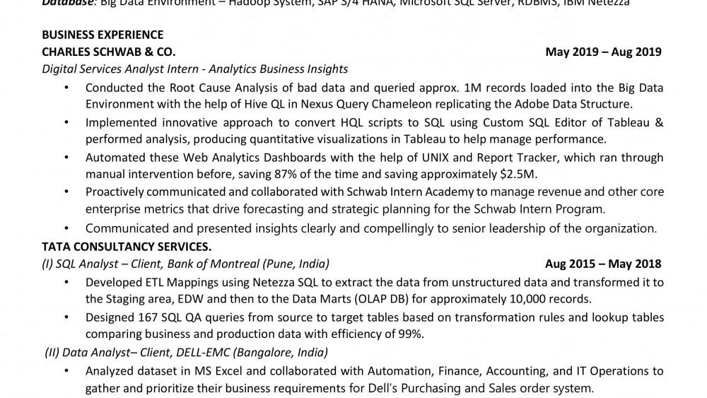 Data Analyst Classic Style